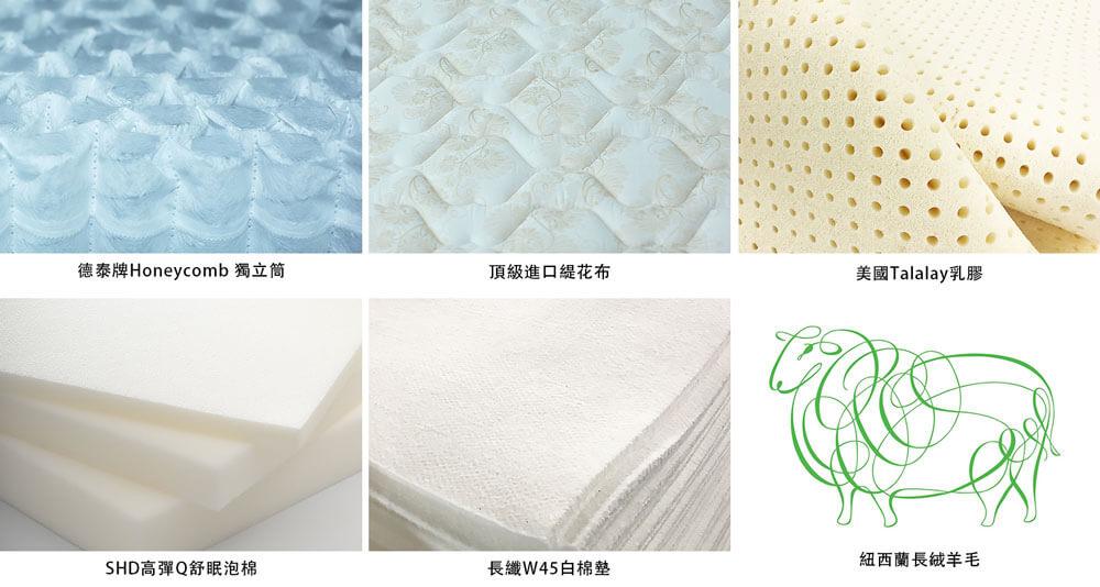 德泰彈簧床 飯店床墊材質