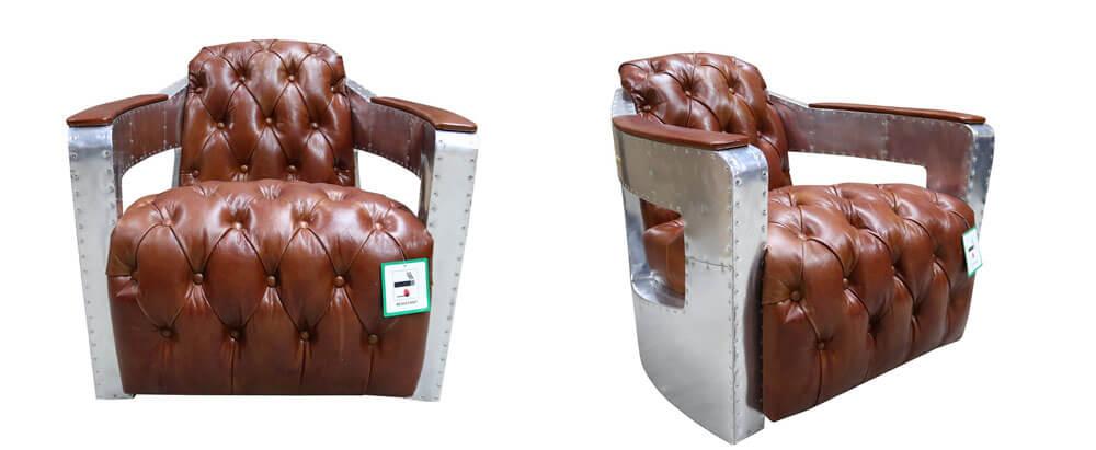 工業風格皮革單椅價格