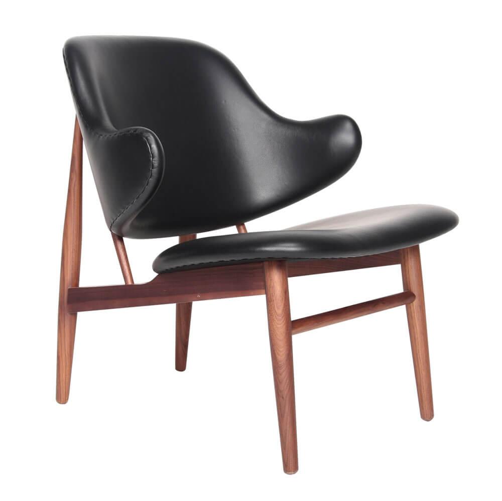 現代風格設計簡約皮革單椅