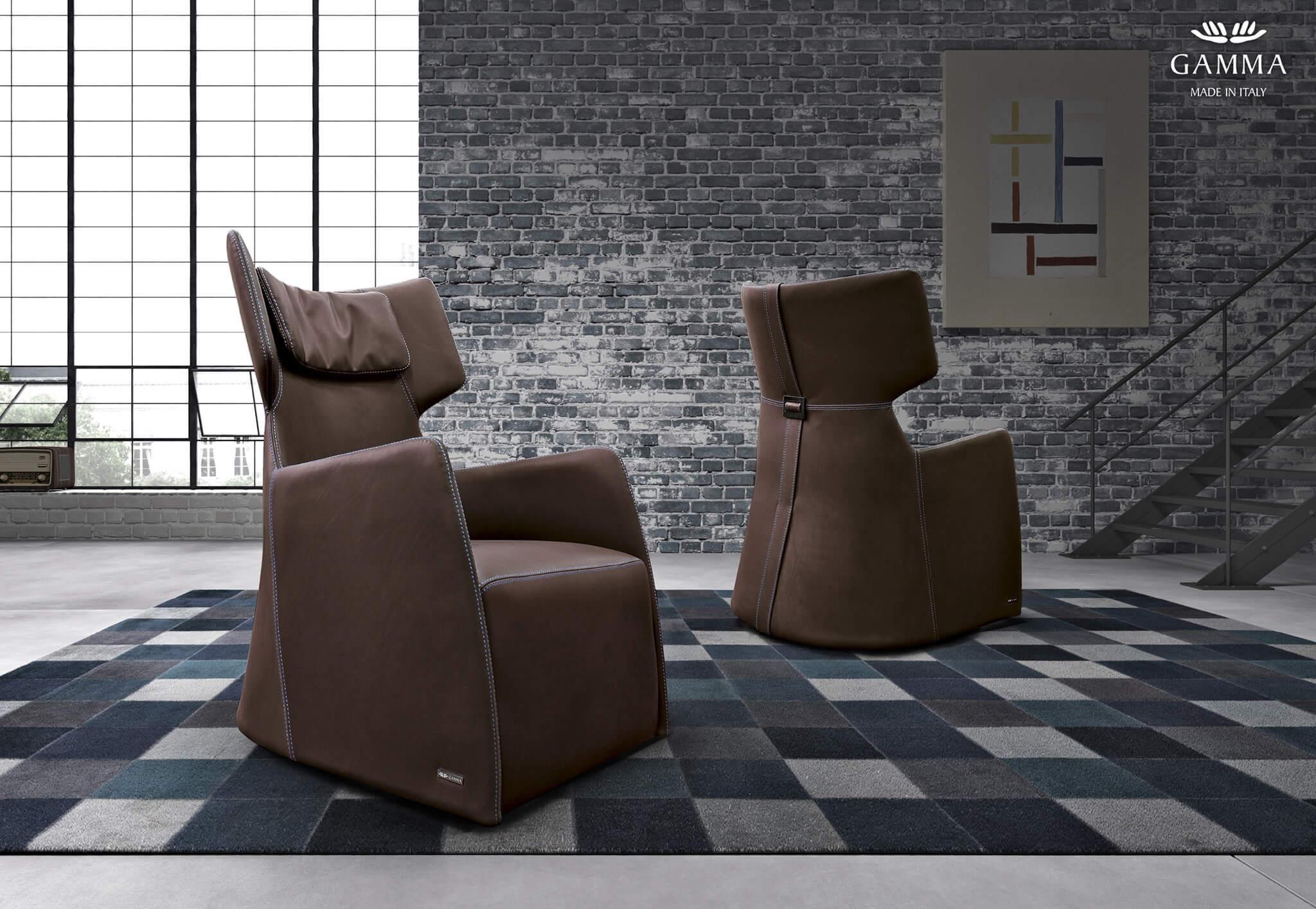GAMMA義大利皮革單椅