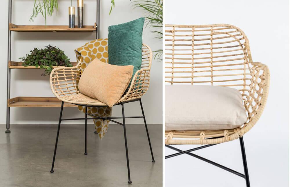 北歐風格餐椅 WHITE LABEL TIGER ARMCHAIR