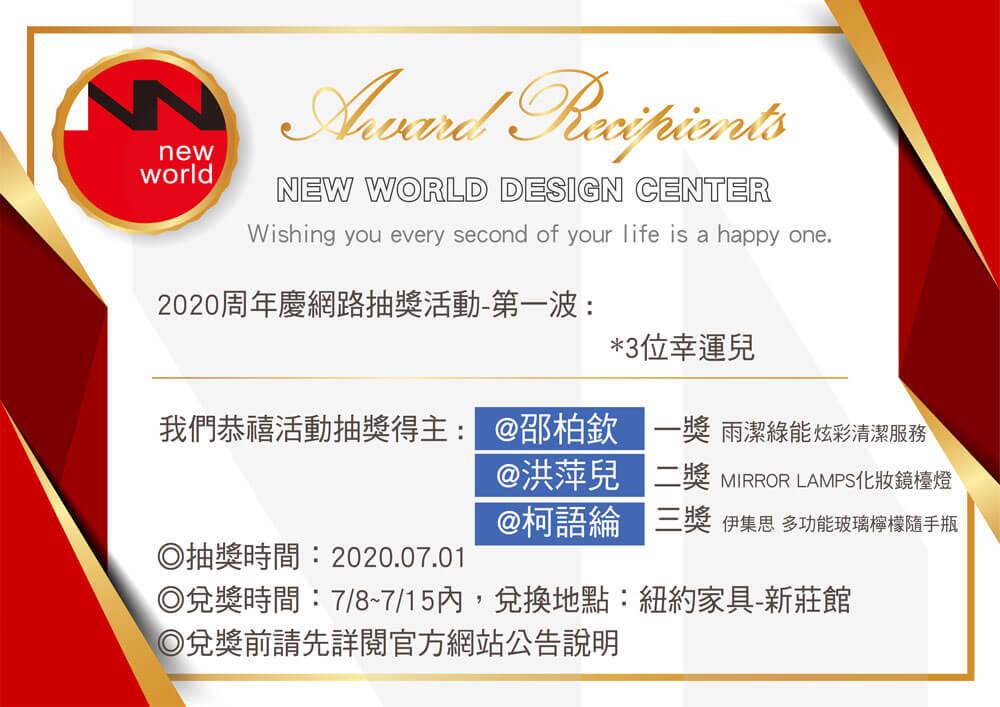 周年慶中獎名單