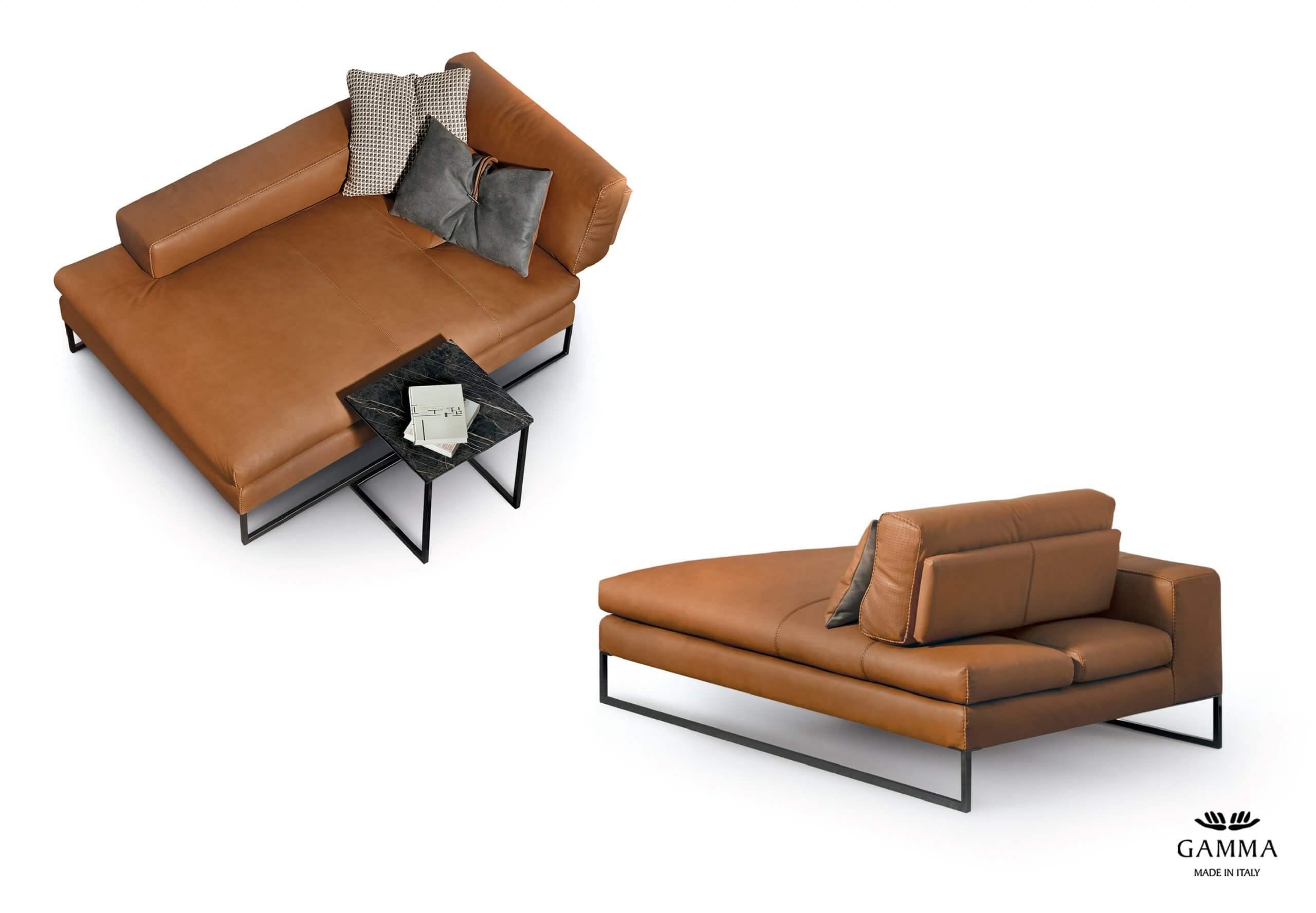 Gamma 義大利皮革單椅