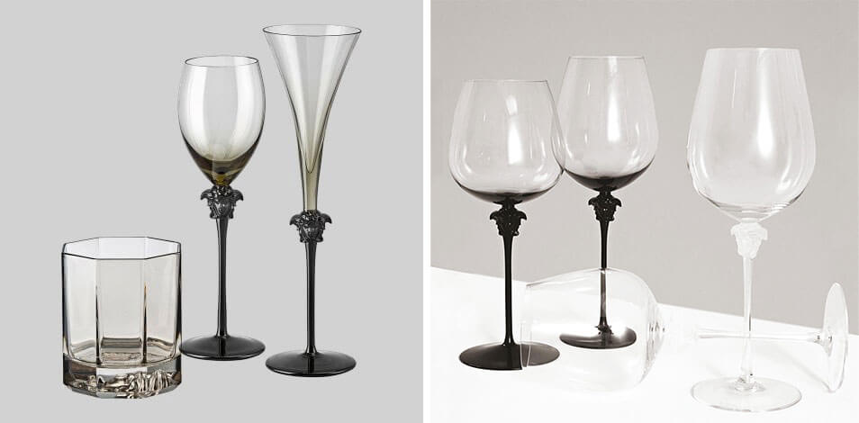 頂級家飾精 精品酒杯 Versace Rosenthal Medusa Lumiere Haze」紅酒杯/香檳杯