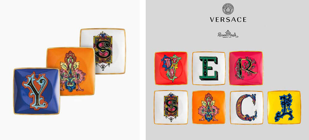 頂級家飾精推薦 精品置物盤 VERSACE ALPHABET 字母置物盤