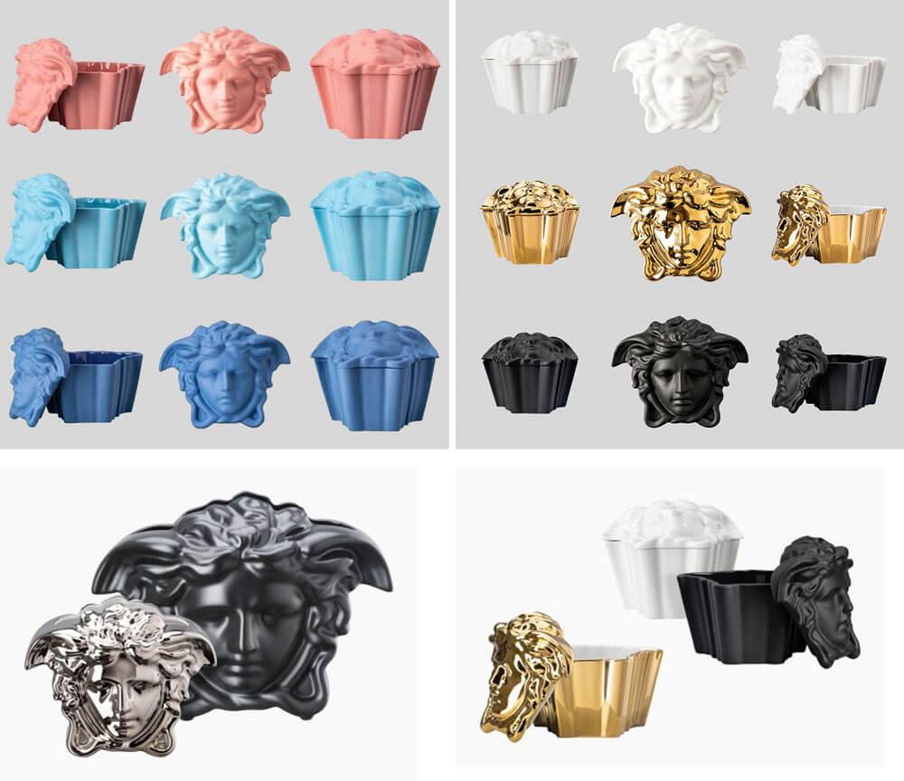 頂級家飾精 進口花瓶 Versace Rosenthal Medusa Grande / Medusa Gypsy 瓷盒頂級家飾精 進口花瓶 Versace Rosenthal Medusa Grande / Medusa Gypsy 瓷盒」花瓶及珠寶盒」花瓶及珠寶盒