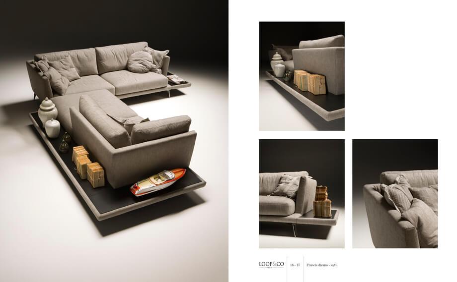 義大利進口沙發品牌 L型沙發尺寸 Loop&Co