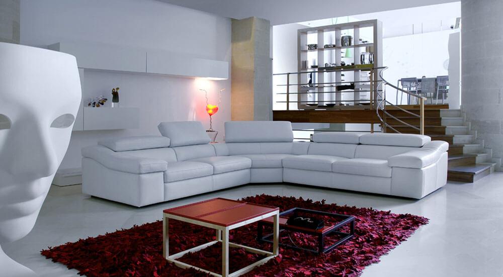 Calia 皮革L型沙發