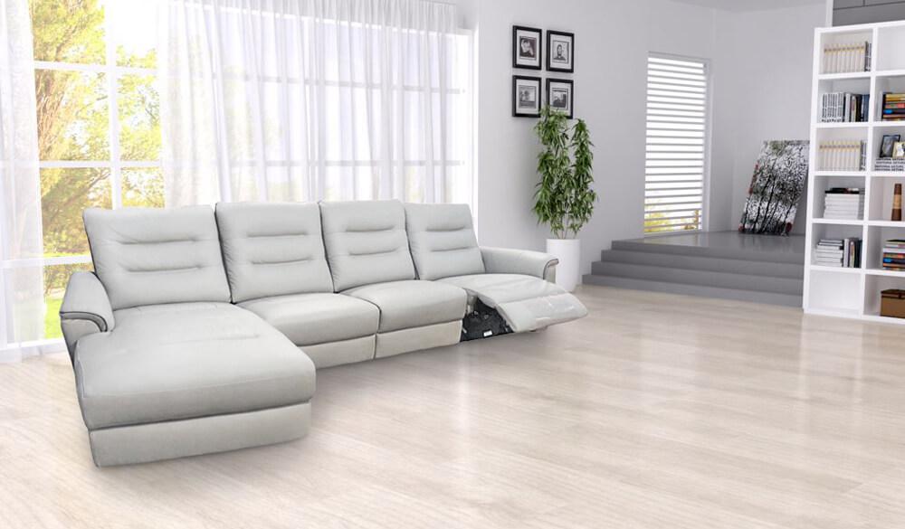 事達國際 皮革電動沙發